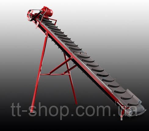 Ленточный конвейер длинной 9 м, ширина ленты 400 мм, фото 2