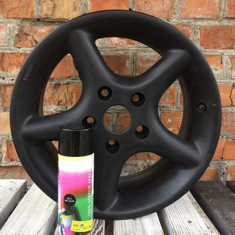 Жидкая резина  для покраски дисков BeLife Черный матовый R4
