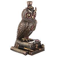 Статуэтка Veronese Сова на книгах 21 см 76996