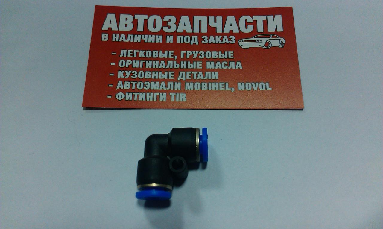 Угольник трубки пластиковой (спасатель) Д=5 пр-во Турция