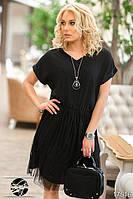 Коктейльное женское платье с подвеской на шею в комплекте