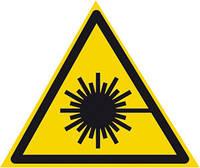 """Табличка Знак опасности """"Опасно. Лазерное излучение"""""""