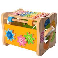 Деревянная игра-логика MD 1062 (сортер, ксилофон, трещотка)
