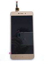 Оригинальный дисплей (модуль) + тачскрин (сенсор) для Xiaomi Redmi 4A (золотой цвет), фото 1