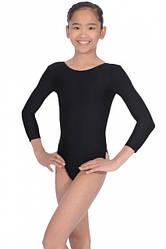 Детский купальник для гимнастики и танцев Черный