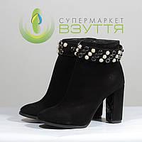 Демисезонные женские ботинки из натуральной замши Foletti 37-40 размеры, фото 1