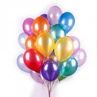 Кулька однотонна перламутр 26 см, гелій