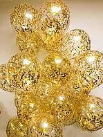 Кулька прозора з конфеті 30 см, гелій