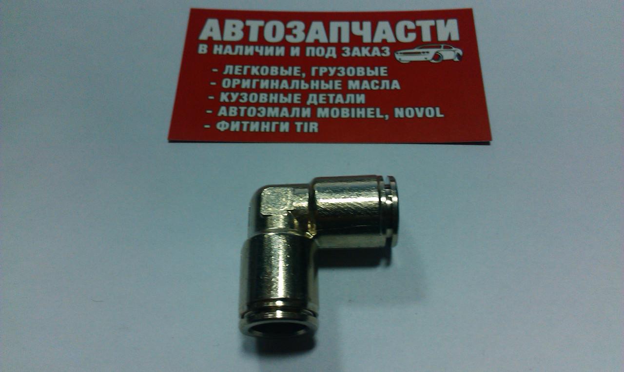 Угольник трубки пластиковой (спасатель) стальной Д=12 пр-во Турция