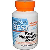 Фосфатидилсерин, Doctor's Best, 100 мг, 60 кап.