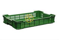 Ящик 600*400*110 перфорированный зеленый, тип 3