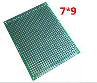 Макетная, монтажная плата Двухсторонняя  PCB 7 x 9 см