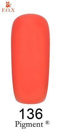 Гель-лак F.O.X. Pigment №136 Красно-розовый 6 ml