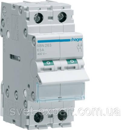 Вимикач навантаження Hager SBN316 3-полюсний 16А/400В, фото 2
