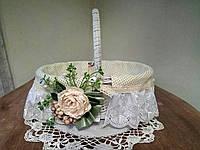 Пасхальная корзина с декором