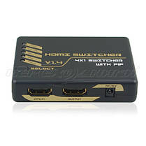 HDMI Switch 4x1 v1.4 (Full 3D, 4Kx2K, PIP) с пультом, фото 3