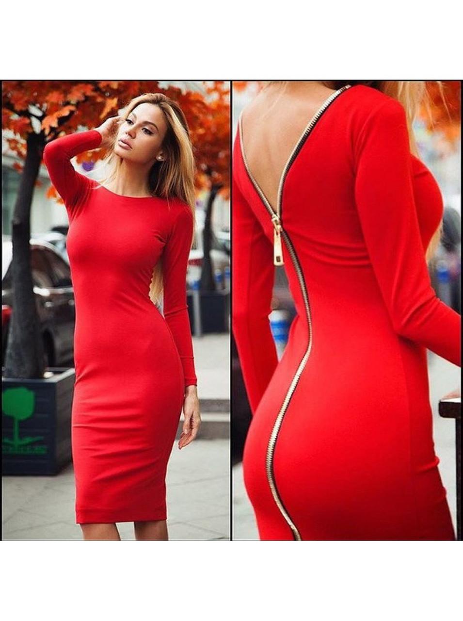 328ec179e5e Женское платья миди Молния на спине - Web-покупки УСПЕХ - Модная одежда  оптом и