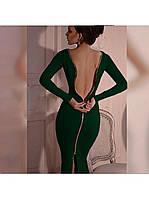 Женское платья миди Молния на спине р. 42,44,46,48 , фото 1