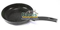 """Сковорода d-24см, h-5,5 см) темно-сіра з антипригарним покриттям без кришки """"Граніт Грей"""" Біол (24134П), фото 1"""