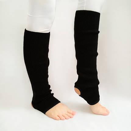 Вязаные детские гетры для танцев и гимнастики 35 см Черный, фото 2