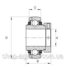 Подшипник LDK NA209L3 тройное уплотнение G1200KRRB, G1200KLLB, UEL211-200D1W3, YEL211-200-2F, 193282C91 , фото 2