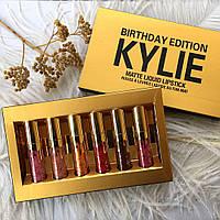 Золотой набор матовых помад Kylie MATTE LIQUID BIRTHDAY EDITION