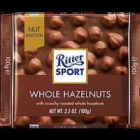 Шоколад Ritter Sport Whole Hazelnuts Молочный шоколад с цельным фундуком 100г (1уп/10шт)