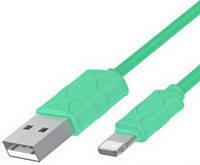 Кабель BASEUS, серия Yaven, USB 2.0/Lightning (Apple 8pin), 1 м, озернозеленый (CALUN-06)