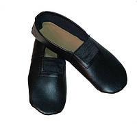 Черные чешки для танцев (искусственная кожа)