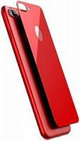 Защитная стеклянная пленка на заднюю панель BASEUS, Silk Screen, для iPhone 7 Plus, красный (SGAPIPH7P-BM09)