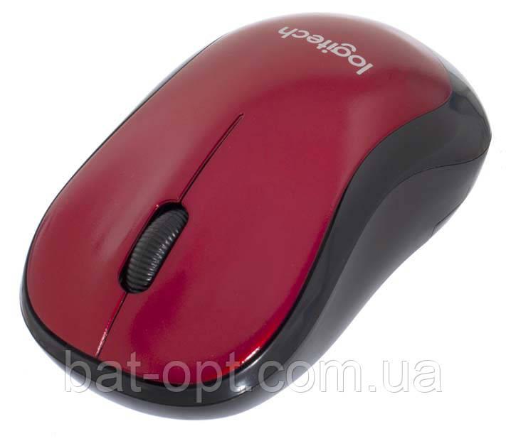 Мышь беспроводная Logitech M185 Wireless, красная