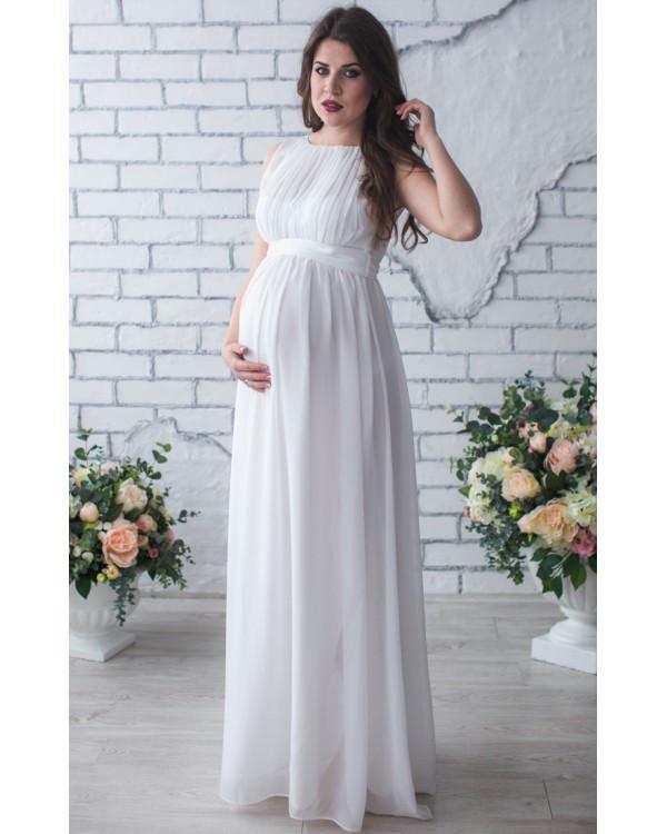 b6bb31112dc Длинное свадебное платье для беременных