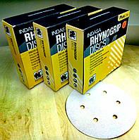 Абразивный диск INDASA RhynoGrip Plus Line -P80, D150, 6 отверстий.