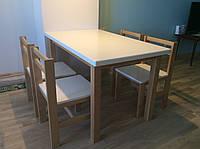 Стол и 4 стула массив дуба, ясеня