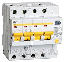 Дифференциальный автоматический выключатель АД14 4Р 6А 10мА IEK