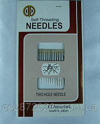 """Набор игл различного размера для слабовидящих """"self-threading NEEDLES""""."""