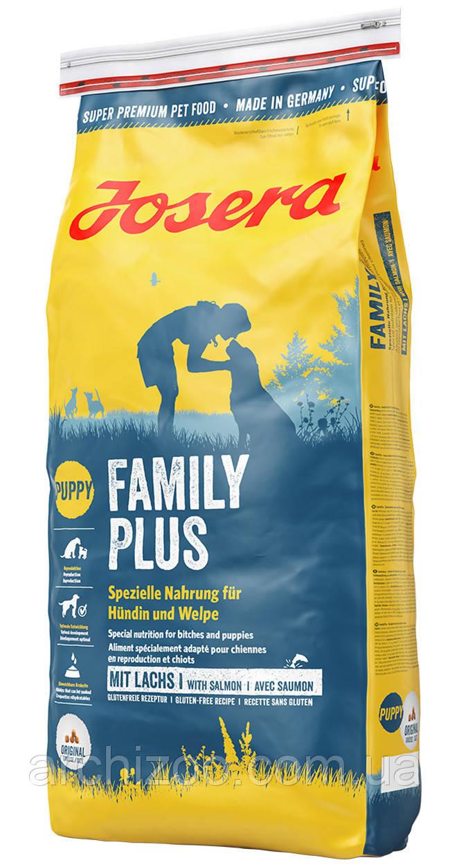Корм Josera йозера Family Plus 15 кг корм для щенков и собак