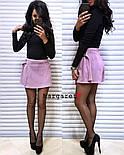 Женская стильная юбка-трапеция на кнопках, фото 3