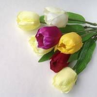 Тюльпаны искусственные РАЗНОЦВЕТ 7 шт. в букете