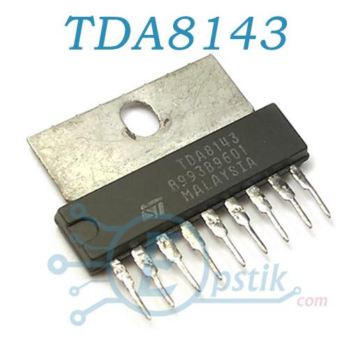 TDA8143, мікросхема драйвер горизонтальній кадрової розгортки, SIP9