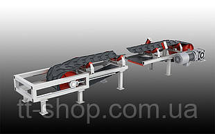 Ленточный желобчатый конвейер длинной 2 м, ширина ленты 400 мм