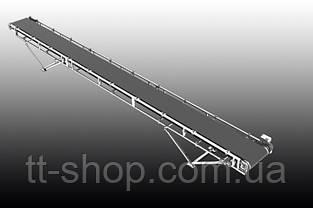 Ленточный желобчатый конвейер длинной 3 м, ширина ленты 400 мм, фото 3