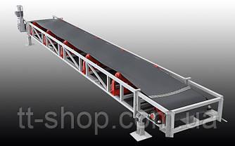 Ленточный желобчатый конвейер длинной 7 м, ширина ленты 400 мм, фото 2