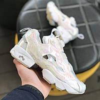 Кроссовки женские кросівки жіночі Reebok Insta Pump Fury в стиле Белый с  розовым 5305eb1ba6db6