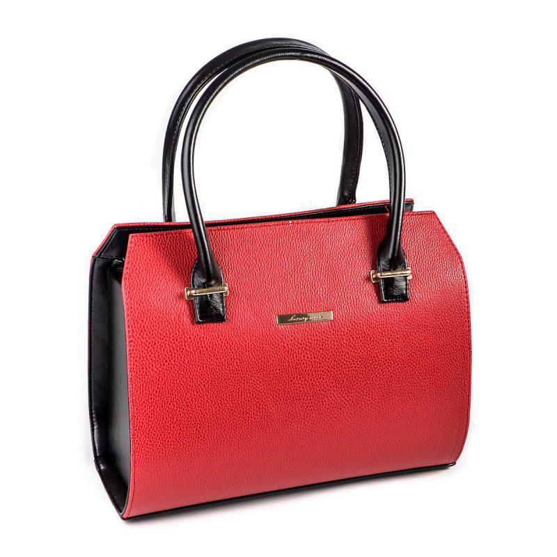 1ed5402378ef Красная женская сумка М50-68/Z саквояж с черными вставками - Интернет магазин  сумок