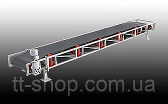 Ленточный желобчатый конвейер длинной 10 м, ширина ленты 400 мм, фото 2