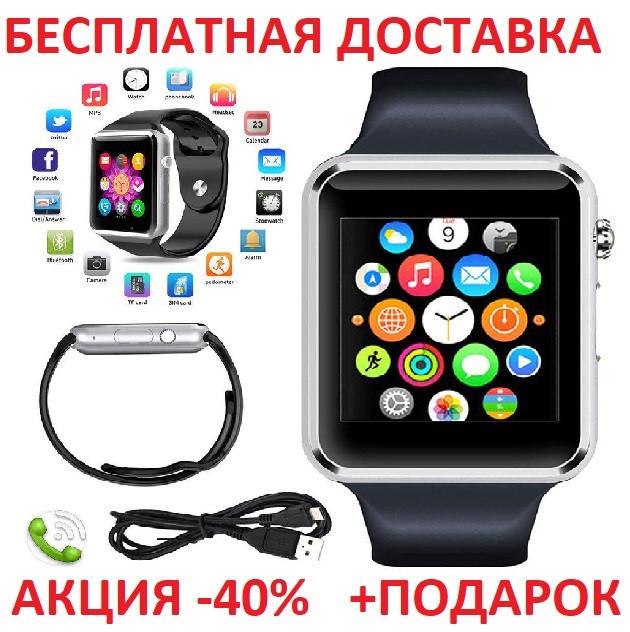 Умные часы смарт A1 Smart Watch GT08 глянец Smartwatch точная копия Apple Watch GSM Camera