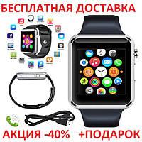 Умные часы смарт A1 Smart Watch GT08 глянец Smartwatch точная копия Apple Watch GSM Camera, фото 1