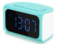 Сетевое зарядное устройство с часами REMAX, 2 USB, 2,1 А, синий (RM-C05)