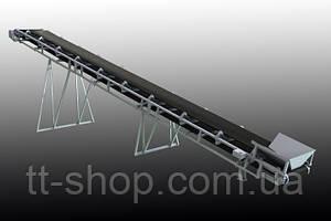 Ленточный желобчатый конвейер длинной 2 м, ширина ленты 500 мм